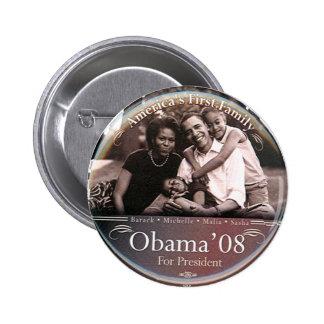 Familia de Obama - botón Pin Redondo De 2 Pulgadas