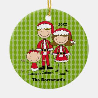 Familia de ornamento de 3 navidad ornamente de reyes