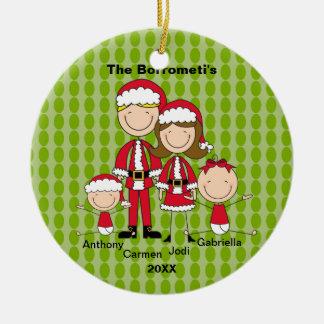 Familia de ornamento de 4 navidad ornaments para arbol de navidad