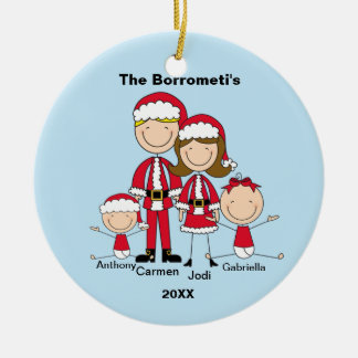 Familia de ornamento de 4 navidad ornamentos de navidad