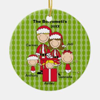 Familia de ornamento de 5 navidad ornamentos para reyes magos