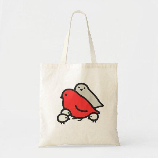 Familia de pájaro linda bolsa tela barata
