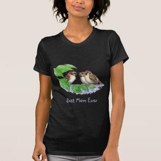 Familia de pájaro linda del mejor gorrión de la camiseta