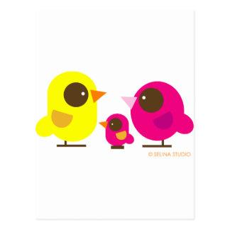familia de pájaro postal