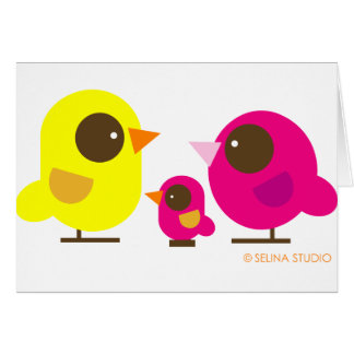 familia de pájaro tarjeta de felicitación