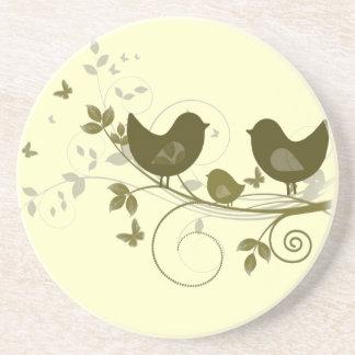 Familia de pájaros posavasos manualidades