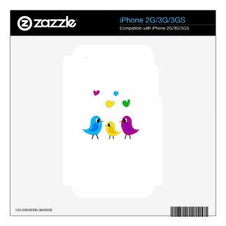 Familia de pájaros skins para eliPhone 2G