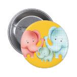 Familia de papá y de bebé de la mamá de los elefan pin