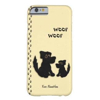 Familia de perro linda personal funda de iPhone 6 barely there