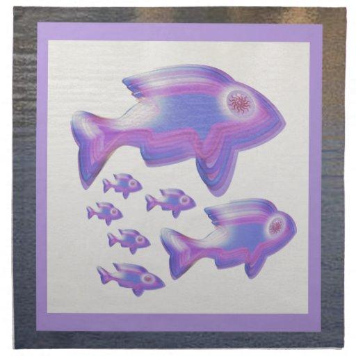 FAMILIA de pescados exótica Servilleta