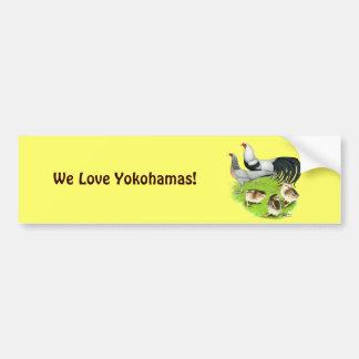 Familia de plata de Yokohama Pegatina Para Auto