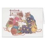 Familia de seis ratones tarjeta