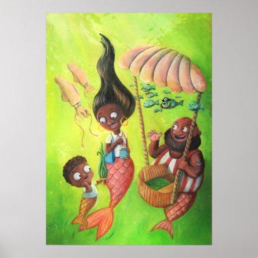 Familia de sirenas posters
