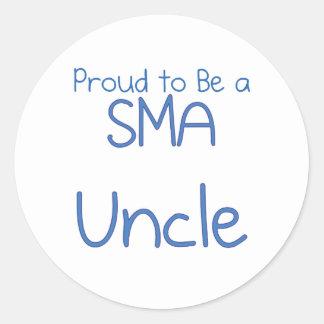 Familia de SMA - tío Etiqueta Redonda