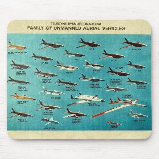 Familia de vehículos aéreos sin tripulación tapetes de ratones