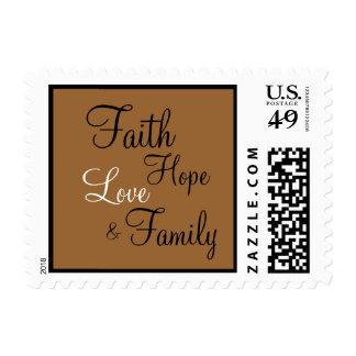 Familia del amor de la esperanza de la fe - sellos