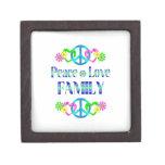 Familia del amor de la paz caja de recuerdo de calidad