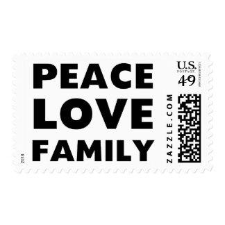 Familia del amor de la paz sello postal