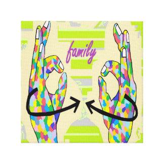 FAMILIA DEL ASL IMPRESIONES EN LONA