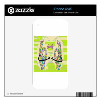 FAMILIA DEL ASL iPhone 4 SKINS