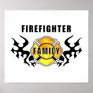 Familia del bombero póster