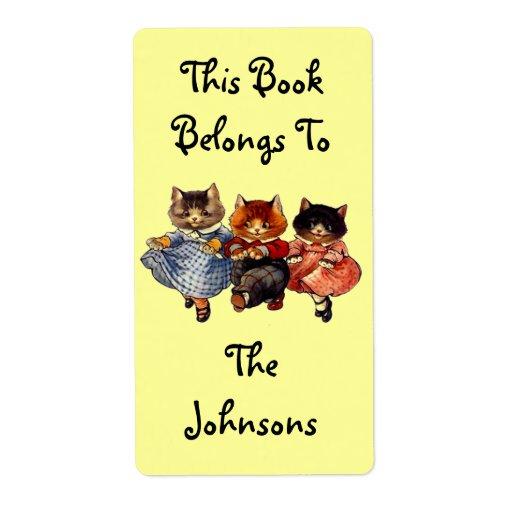 Familia del Bookplate de etiquetas del libro de Etiquetas De Envío