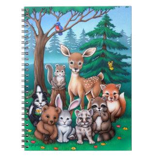 Familia del bosque libreta espiral