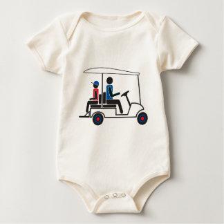Familia del carro de golf del PTC GA (rojo, blanco Body De Bebé