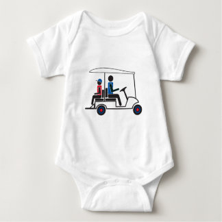 Familia del carro de golf del PTC GA (rojo, blanco Tee Shirt