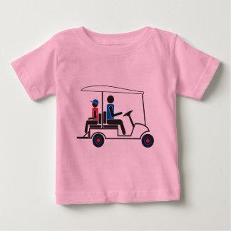 Familia del carro de golf del PTC GA (rojo, blanco T-shirts