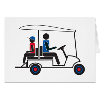 Familia del carro de golf del PTC GA (rojo, blanco Tarjeta De Felicitación