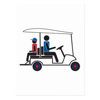 Familia del carro de golf del PTC GA (rojo, blanco Tarjeta Postal