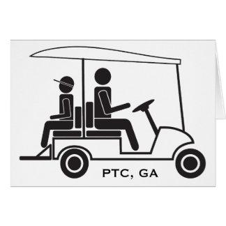 Familia del carro de golf del PTC GA Tarjeta De Felicitación