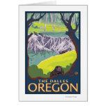 Familia del castor - el Dalles, Oregon Felicitación