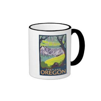 Familia del castor - Portland, Oregon Tazas De Café