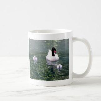 Familia del cisne taza clásica