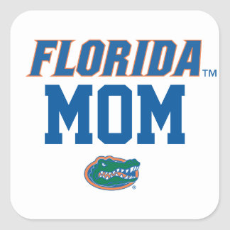 Familia del cocodrilo de la Florida Pegatina Cuadrada