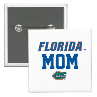 Familia del cocodrilo de la Florida Pin Cuadrado