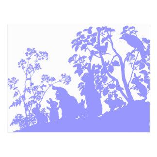 Familia del conejito tarjetas postales