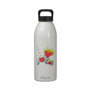 Familia del corazón botella de agua reutilizable