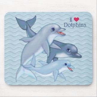 Familia del delfín alfombrillas de raton