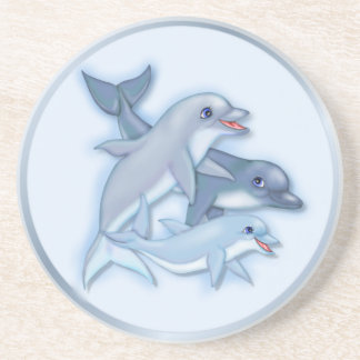 Familia del delfín posavasos cerveza
