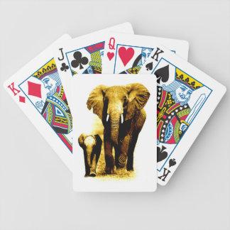 Familia del elefante barajas de cartas