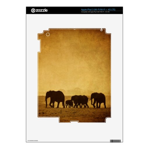 Familia del elefante pegatina skin para iPad 3