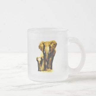 Familia del elefante taza