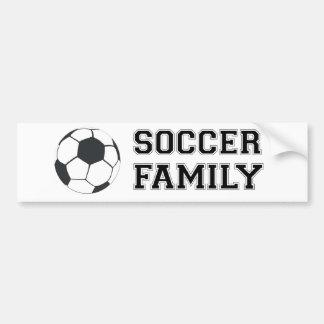 Familia del fútbol etiqueta de parachoque