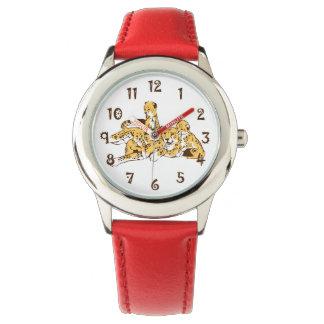 Familia del guepardo reloj de mano