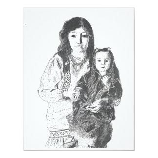 """Familia del Inuit Invitación 4.25"""" X 5.5"""""""