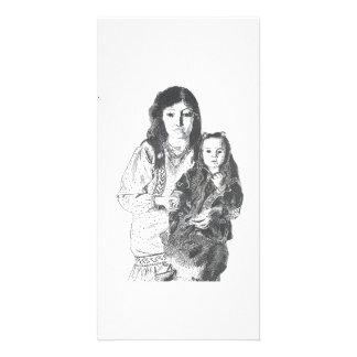 Familia del Inuit Tarjeta Fotografica
