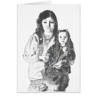 Familia del Inuit Tarjetas